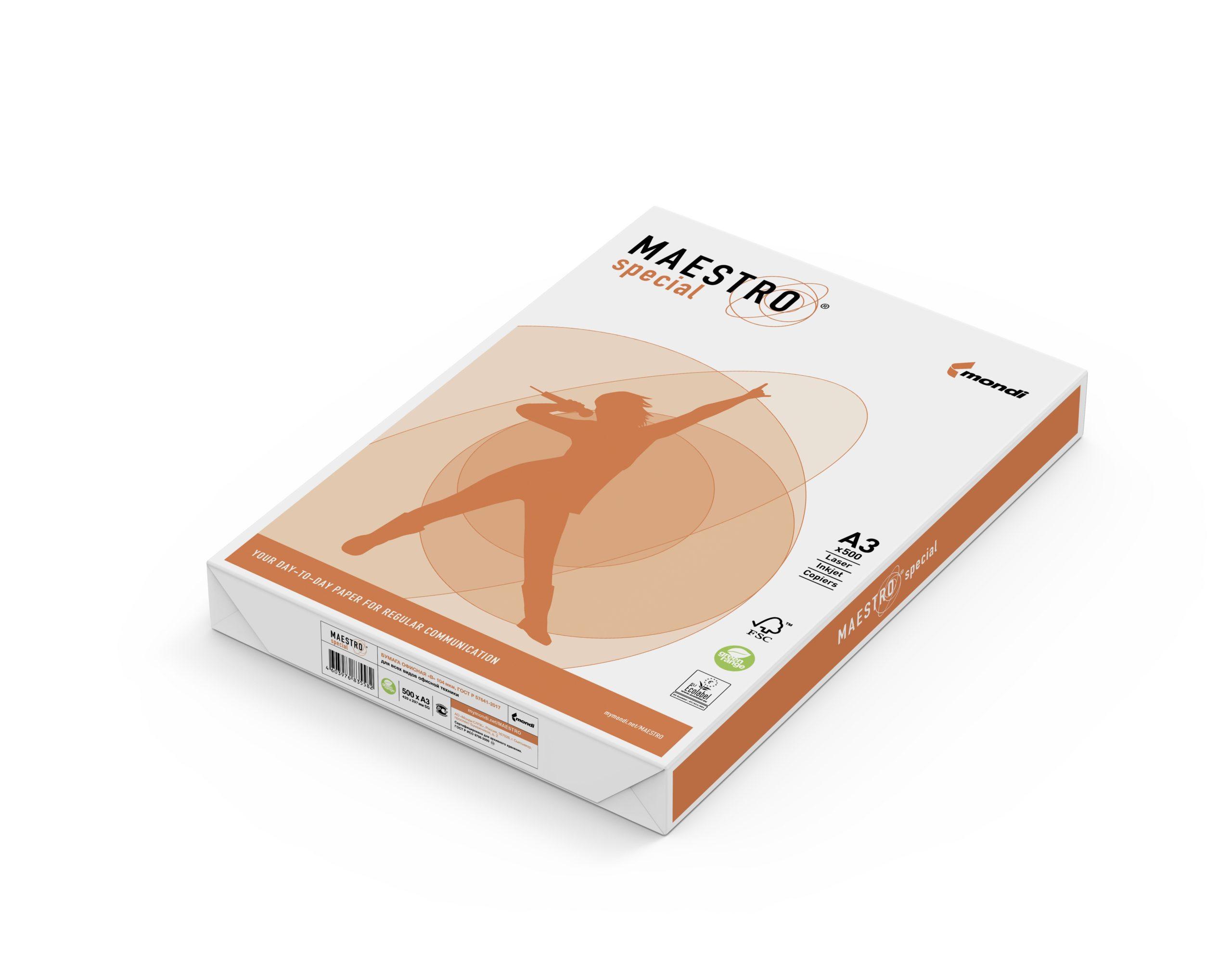 Бумага Maestro Special 500 листов (белизна CIE 162%, 80 г/м2, А3)