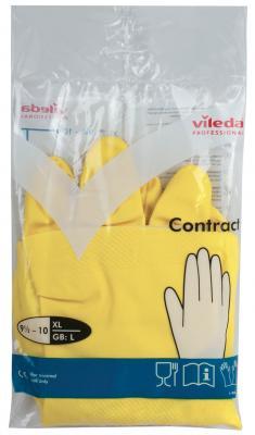 Перчатки VILEDA КОНТРАКТ резиновые c х/б напыление, размер XL