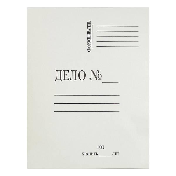 Папка-обложка ЭВРИКА ДЕЛО А4 немелованный картон 280 г/м2 белая