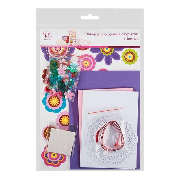 набор для создания открыток «Цветы»