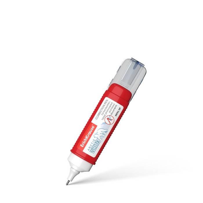 Корректирующая ручка ErichKrause ARCTIC WHITE, металлический наконечник, 12 мл