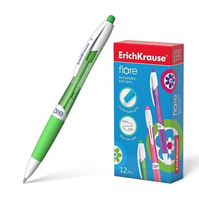 Ручка шариковая автоматическая ErichKrause® Fiore, цвет чернил синий