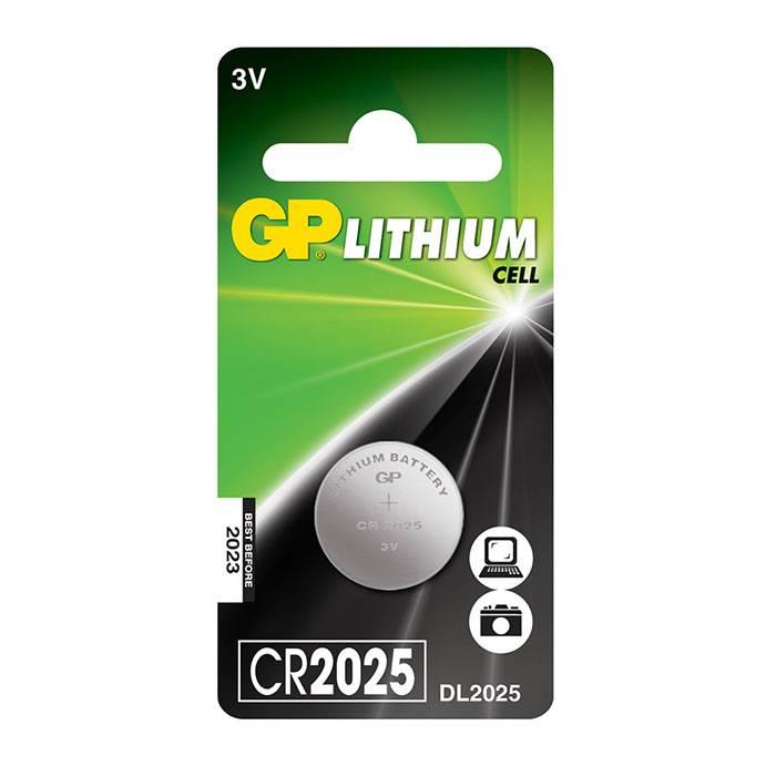 Батарейка GP CR2025 литий-ионная 3 V, блистер