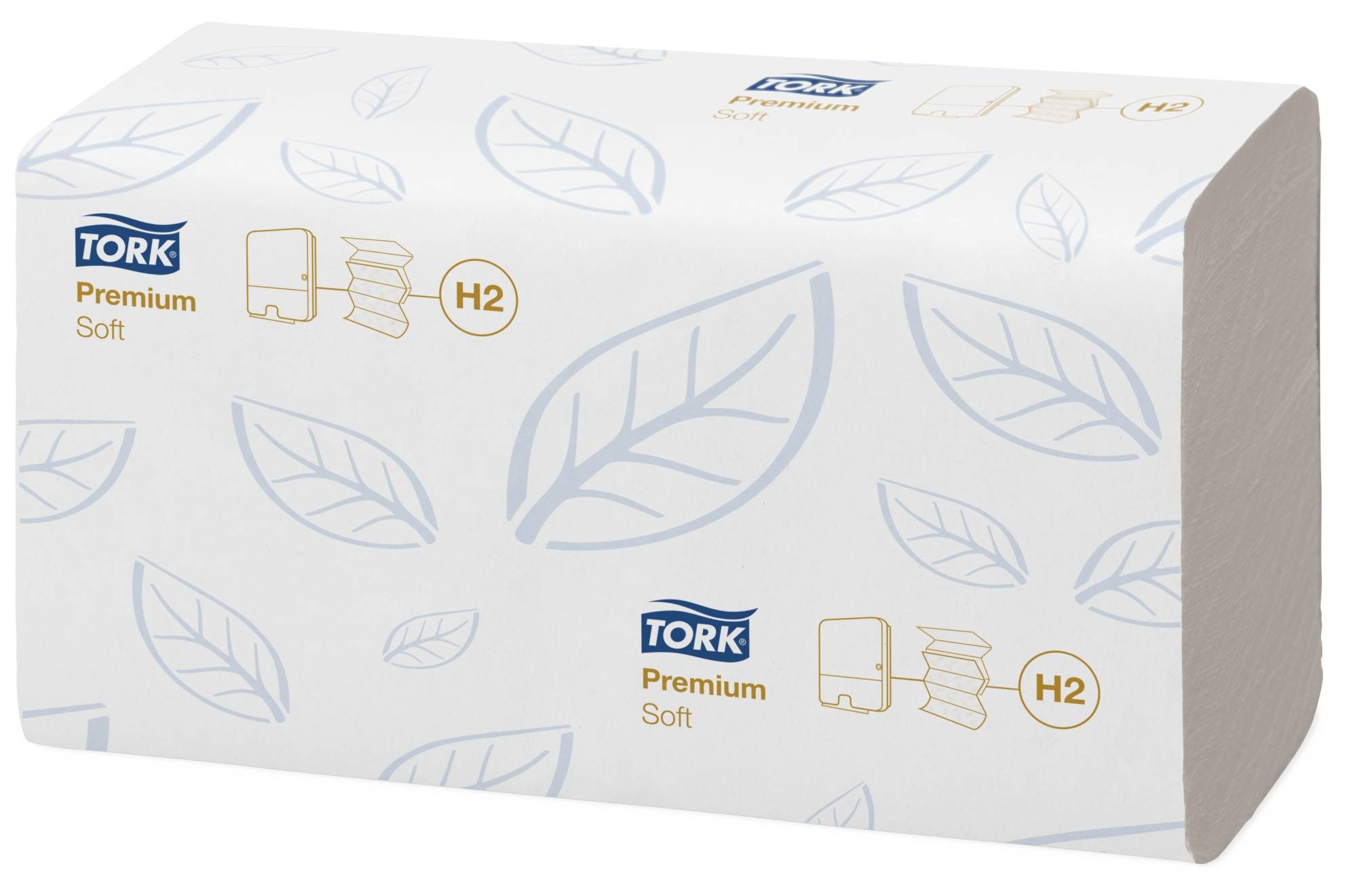 Полотенце листовые TORK PREMIUM H2 M-сложение, 2 слойные, 21,2х34см, 110 л., белый