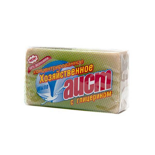 Мыло хозяйтвенное АИСТ с глицерином 150 г