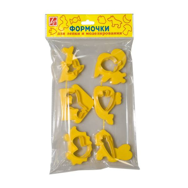 Формочки для лепки и моделирования, пластик № 1