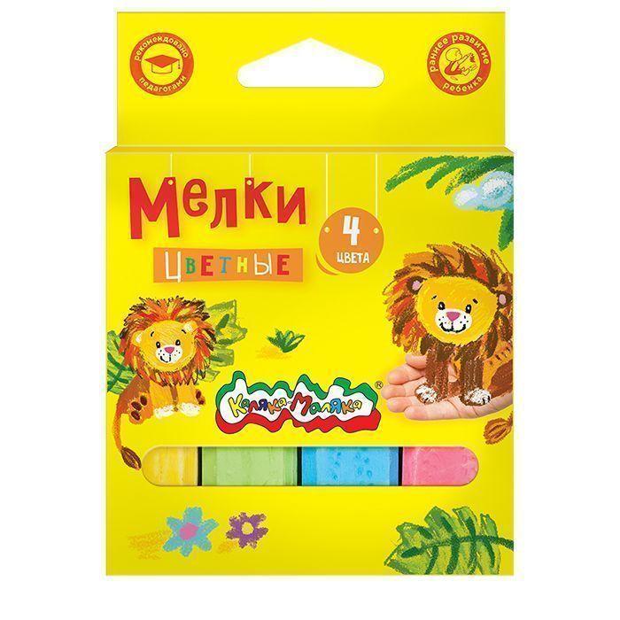 Мелки цветные для асфальта Каляка-Маляка 4 шт., картонная упаковка, европодвес