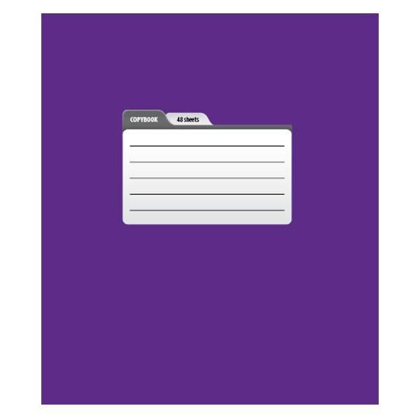 Тетрадь 96 листов ПАНТОН А5 в линейку, обложка мелованный картон, матовая ламинация, на скрепке, ассорти