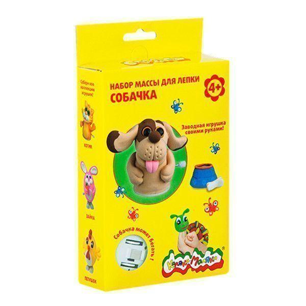 Набор массы для лепки Каляка-Маляка СОБАЧКА заводная игрушка 4+