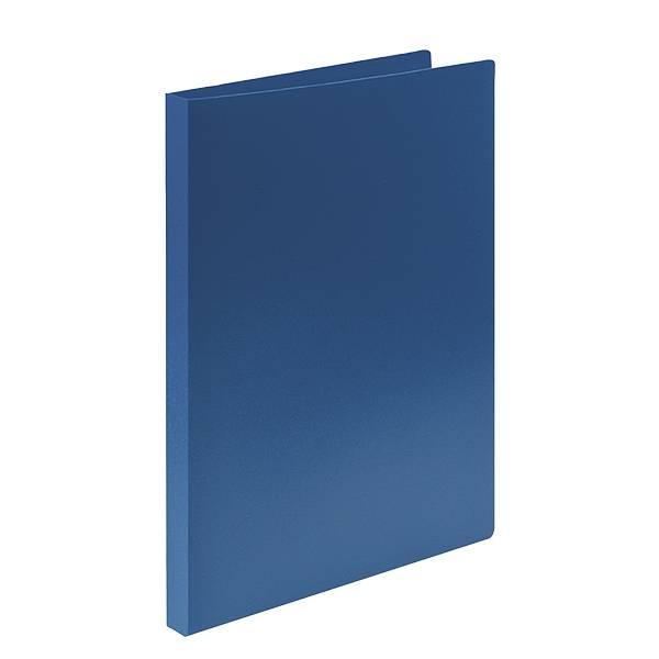 Папка с кольцами LITE А4 2 кольца, 21 мм, пластик 500 мкм, синяя