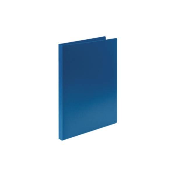 Папка-скоросшиватель LITE А4 синяя пластик 500 мкм пластиковый механизм