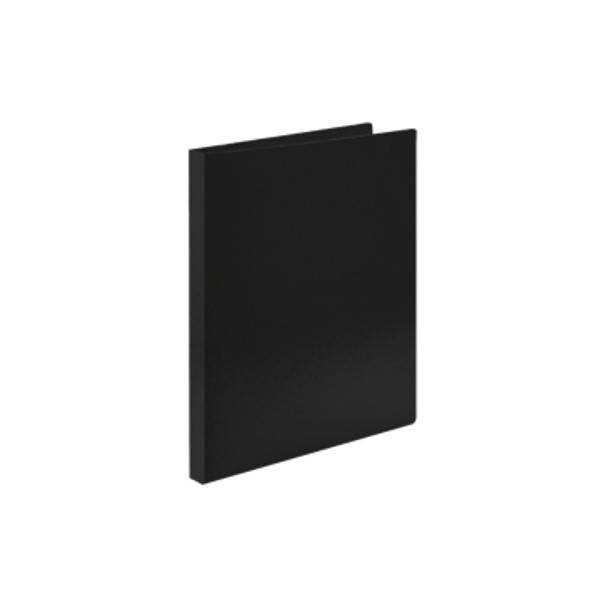 Папка-скоросшиватель LITE А4 черная пластик 500 мкм пластиковый механизм