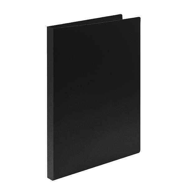 Папка с прижимами LITE А4 черная пластик 500 мкм