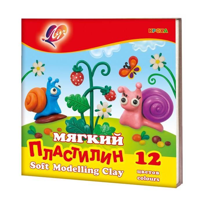 Пластилин ЛУЧ КРОХА 12 цветов 198 г, со стеком