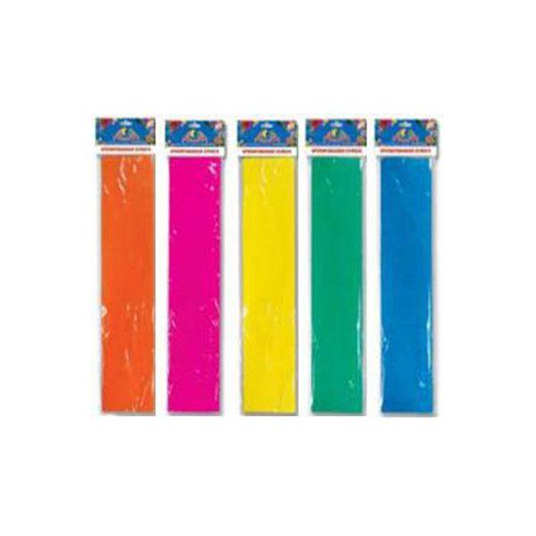 Бумага цветная крепированная флуор., 50х200 см, ассортимент (зел,жёлт,голуб,оранж,роз)