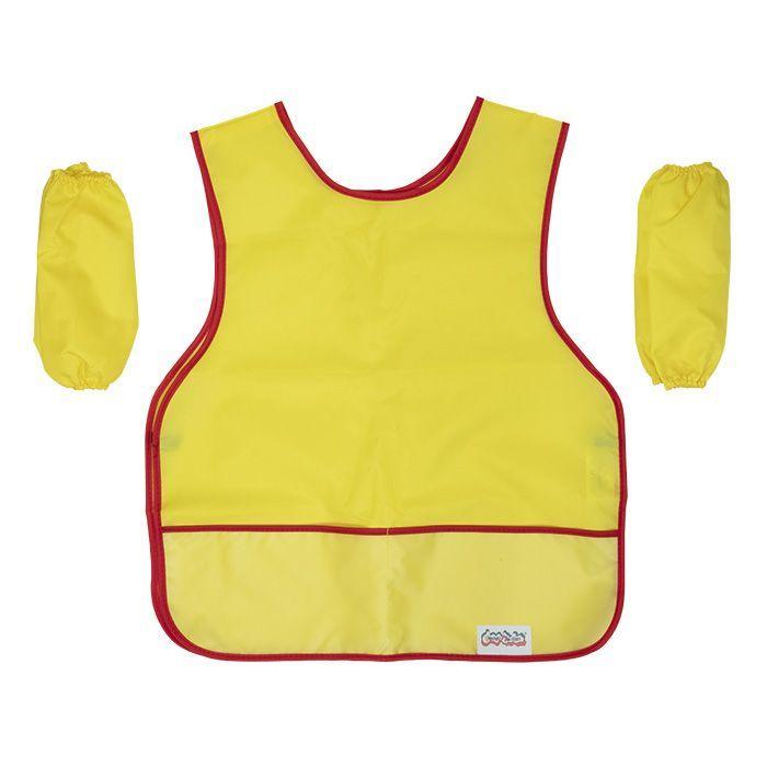 Фартук для труда Каляка-Маляка с нарукавниками, закрытый, европодвес, ткань, желтый, 5-8 лет