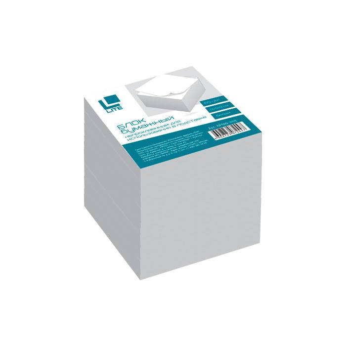 Блок для записей непроклеенный LITE КУБ 90х90х90 мм, белый (белизна 92%)