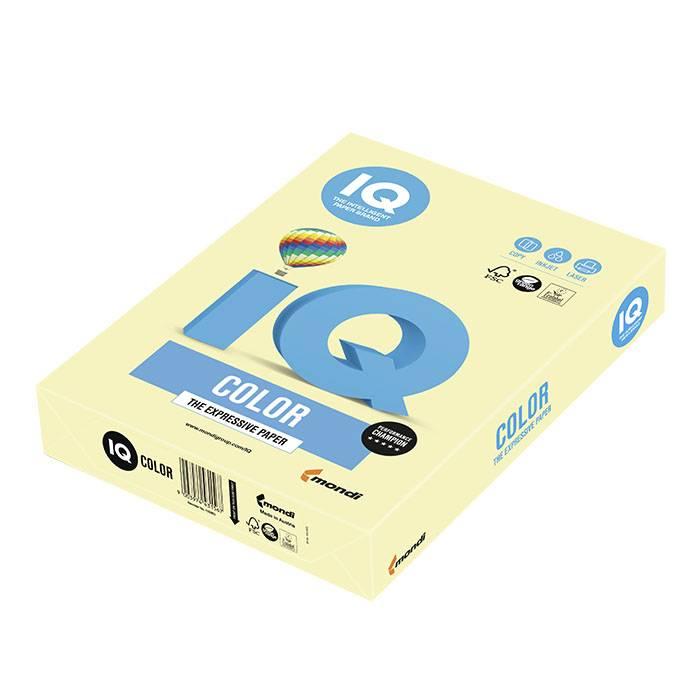 Бумага цветная IQ COLOR желтая (80 г/м2, А4, 500 л.)