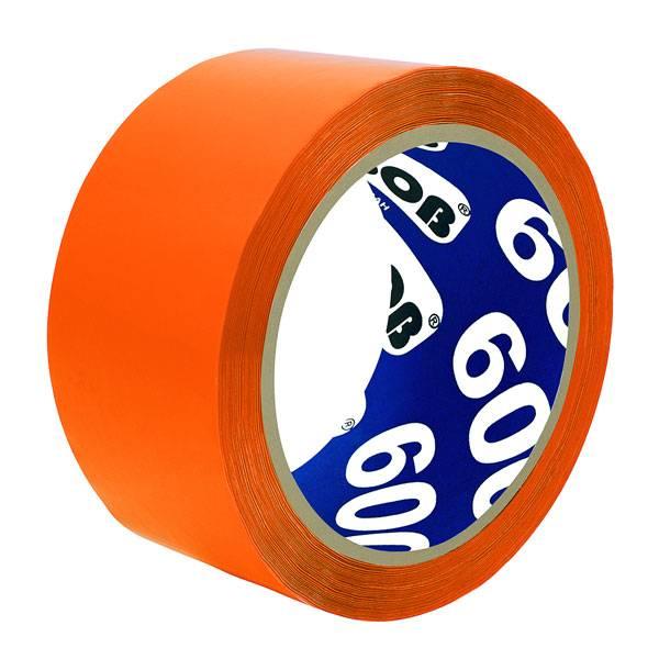 Лента упаковочная UNIBOB 48 мм х 66 м, 45 мкм оранжевая