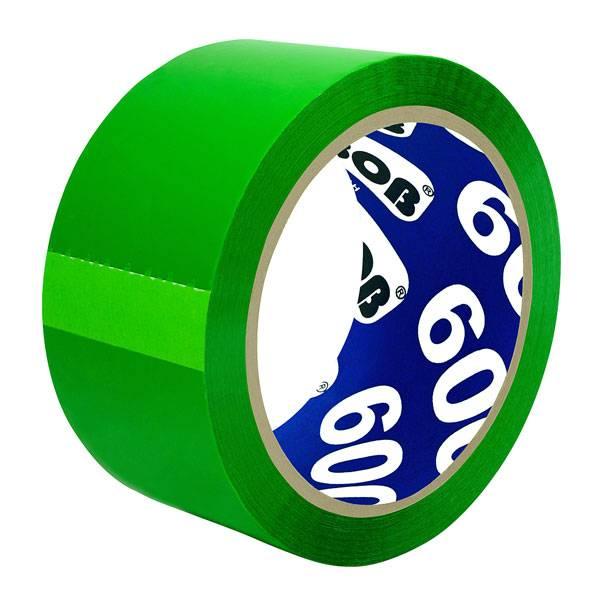 Лента упаковочная UNIBOB 48 мм х 66 м, 45 мкм зеленая
