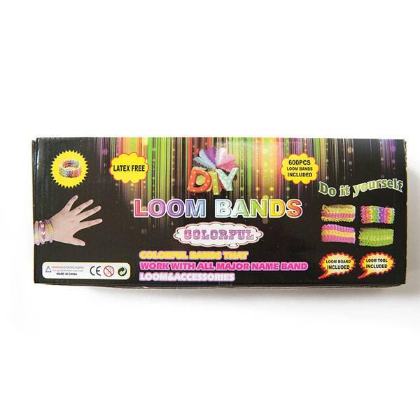 Набор резинок для плетения браслетов ЛУМ БЭНД 600 шт.,станок большой