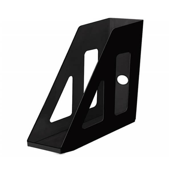 Лоток вертикальный СТАММ АКТИВ 70 мм, черный пластик