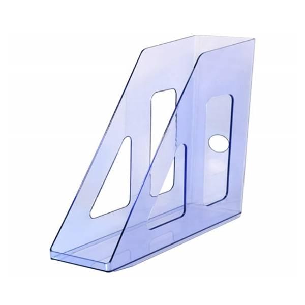 Лоток вертикальный СТАММ АКТИВ 70 мм, голубой тонированный пластик