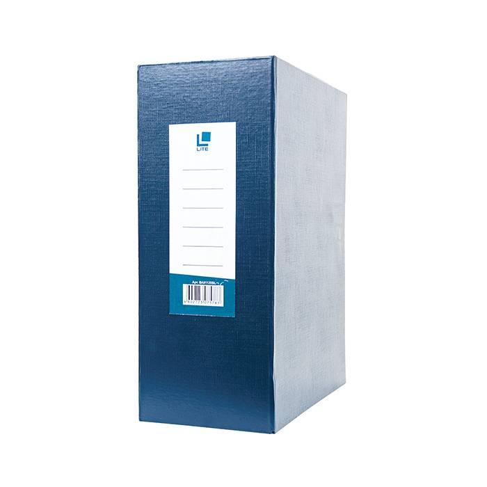 Короб архивный LITE 120 мм А4, синий, бумвинил разобран
