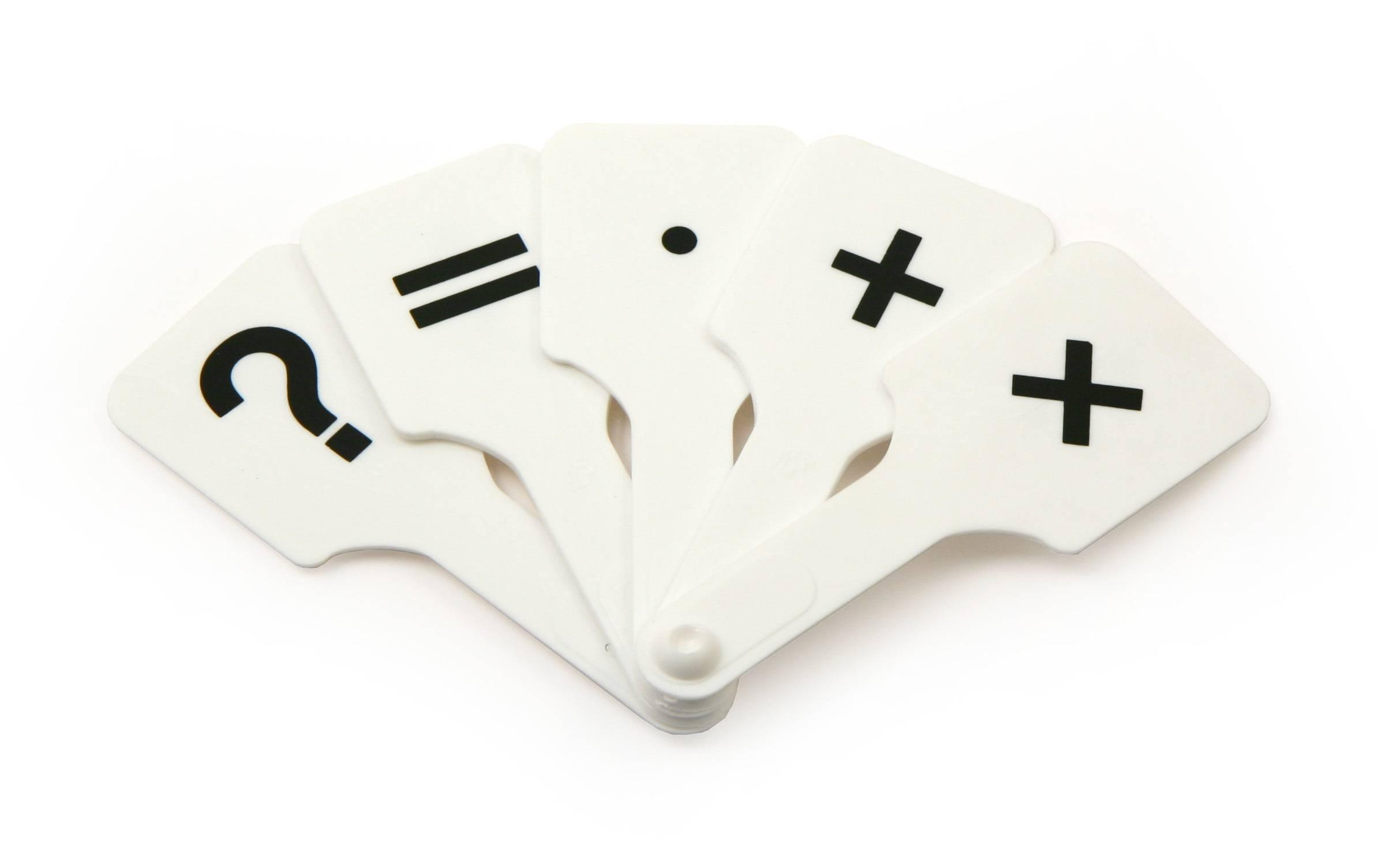 Касса-веер арифметические знаки
