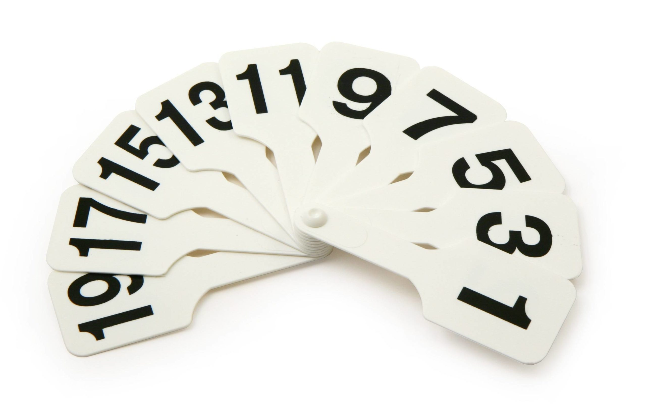 Касса-веер цифр от 1 до 20