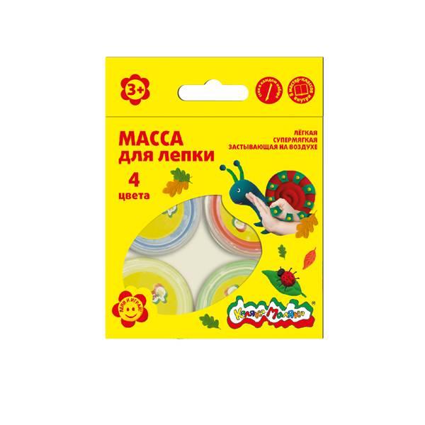 Масса для лепки Каляка-Маляка 4 цвета 14 г