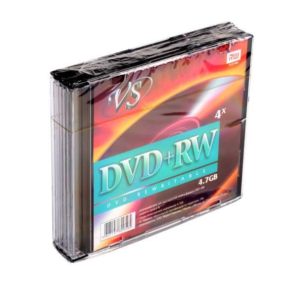 Диск DVD+RW VS 4,7 Гб 4х slim/5
