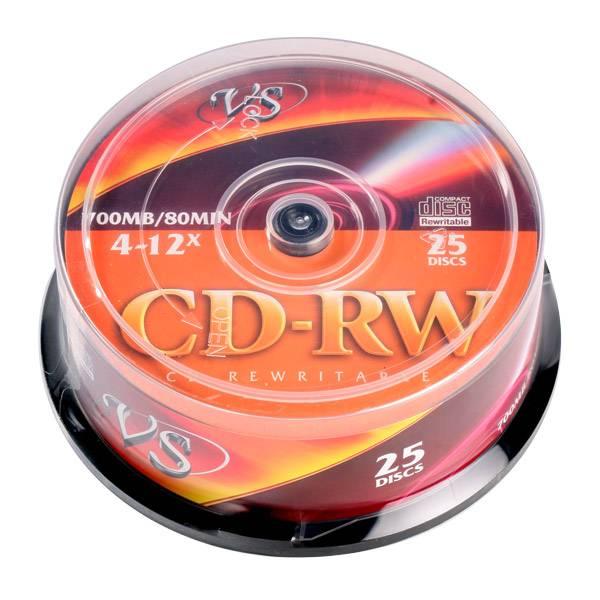 Диск CD-RW VS 700 Мб 4-12х CB/25