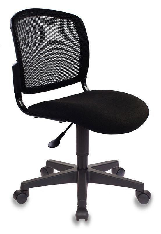 Кресло БЮРОКРАТ CH-296 черное, ткань/сетка в спинке