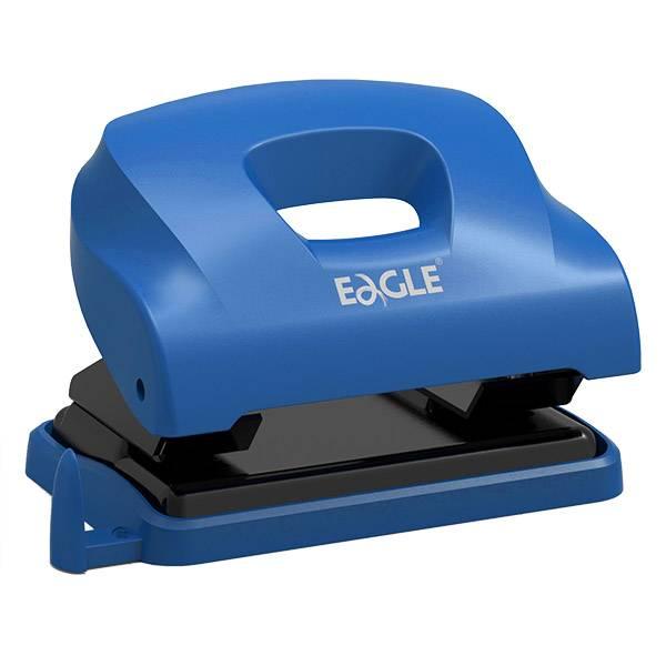 Дырокол EAGLE OCEAN до 12 листов, металл, синий с линейкой