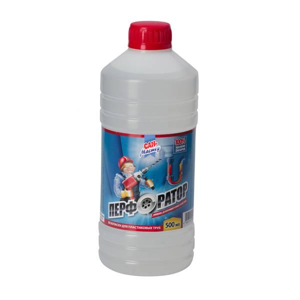 Чистящее средство для канализационных труб САН МАСТЕР Перфоратор 500 мл