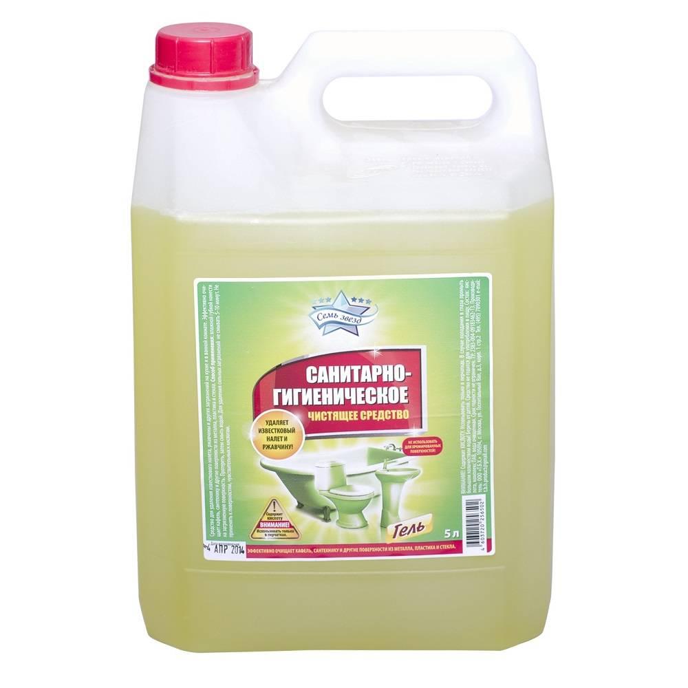 Чистящее средство, гель СЕМЬ ЗВЕЗД Санитарный 5 л (канистра)