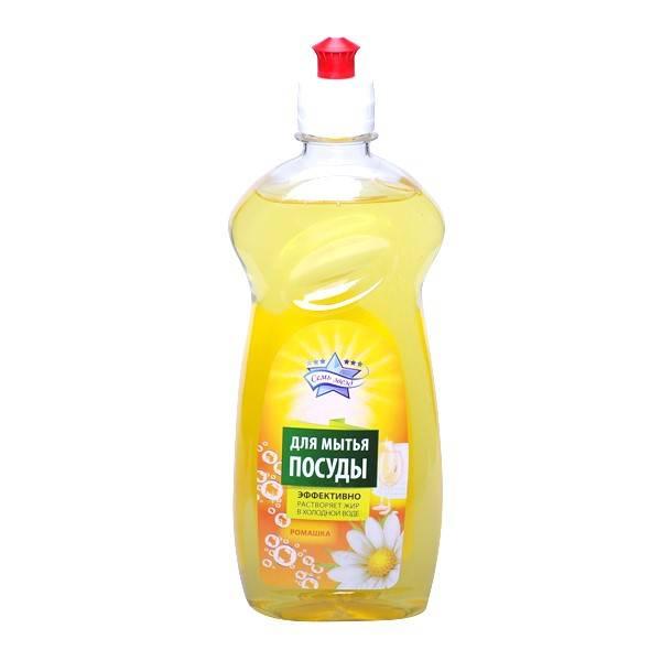 Средство для мытья посуды СЕМЬ ЗВЕЗД Ромашка 500 мл
