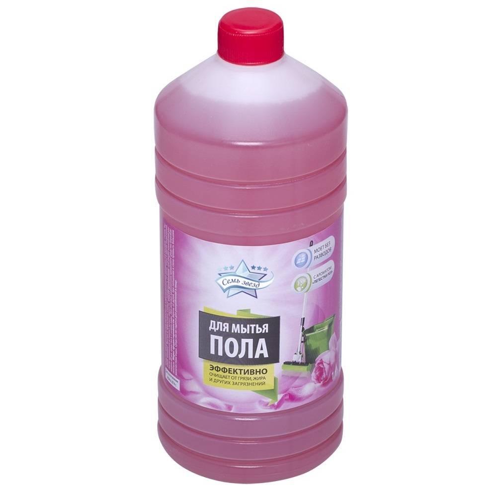 Средство для мытья пола СЕМЬ ЗВЕЗД Аромат роз 1 л