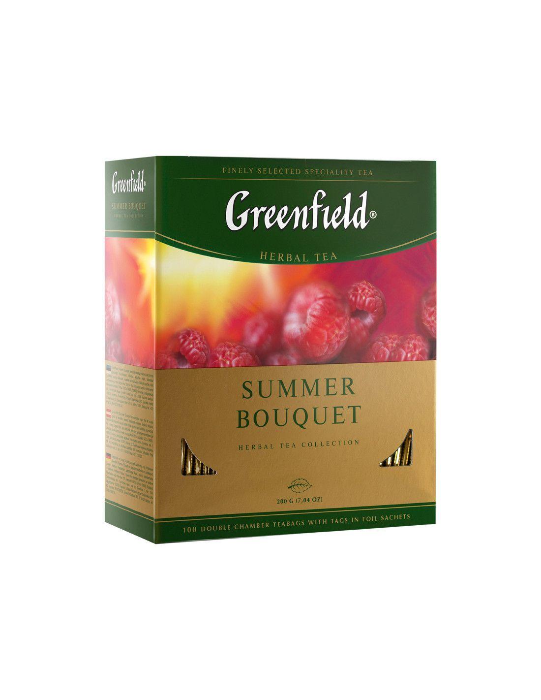 Чай GREENFIELD SUMMER BOUQUET травяной/фруктовый 100 шт карт.упак.