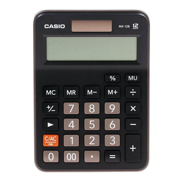 Калькулятор настольный CASIO MX-12B 12-разрядный настольный