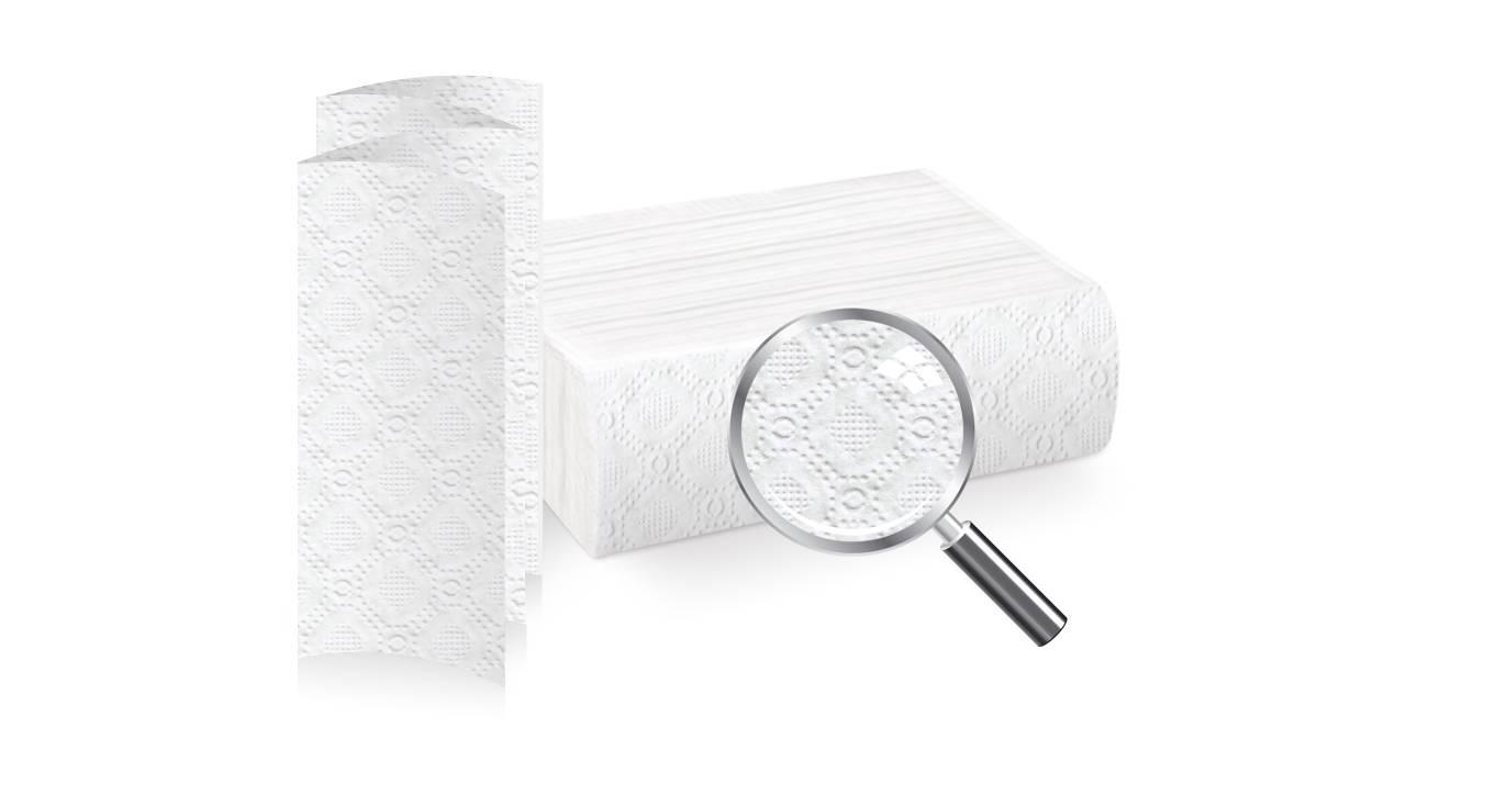 Полотенце бумажные BELUX, 2 слойные, Z-сложение, 20х22 см, 200 л., белый