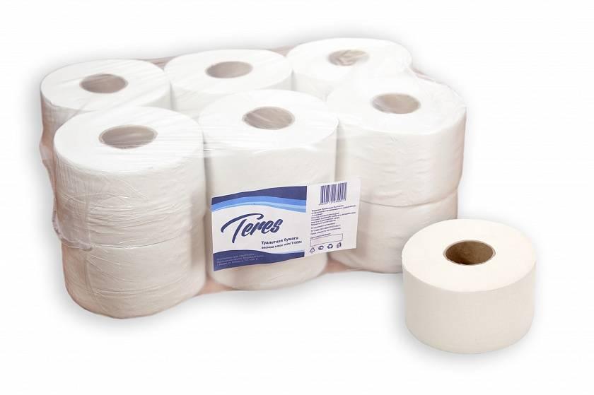 Бумага туалетная однослойная ТЕРЕС ЭКОНОМ MINI 200 м белый