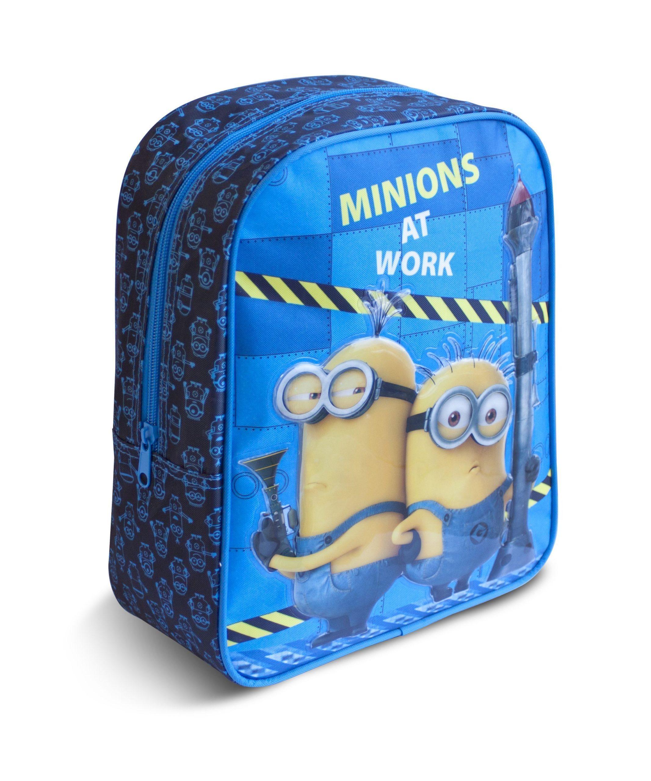 Рюкзак для/дошк. МИНЬОНЫ 28х210х12,5 см 3+