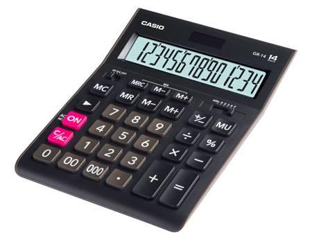 Калькулятор настольный CASIO GR-14 14-разрядный настольный