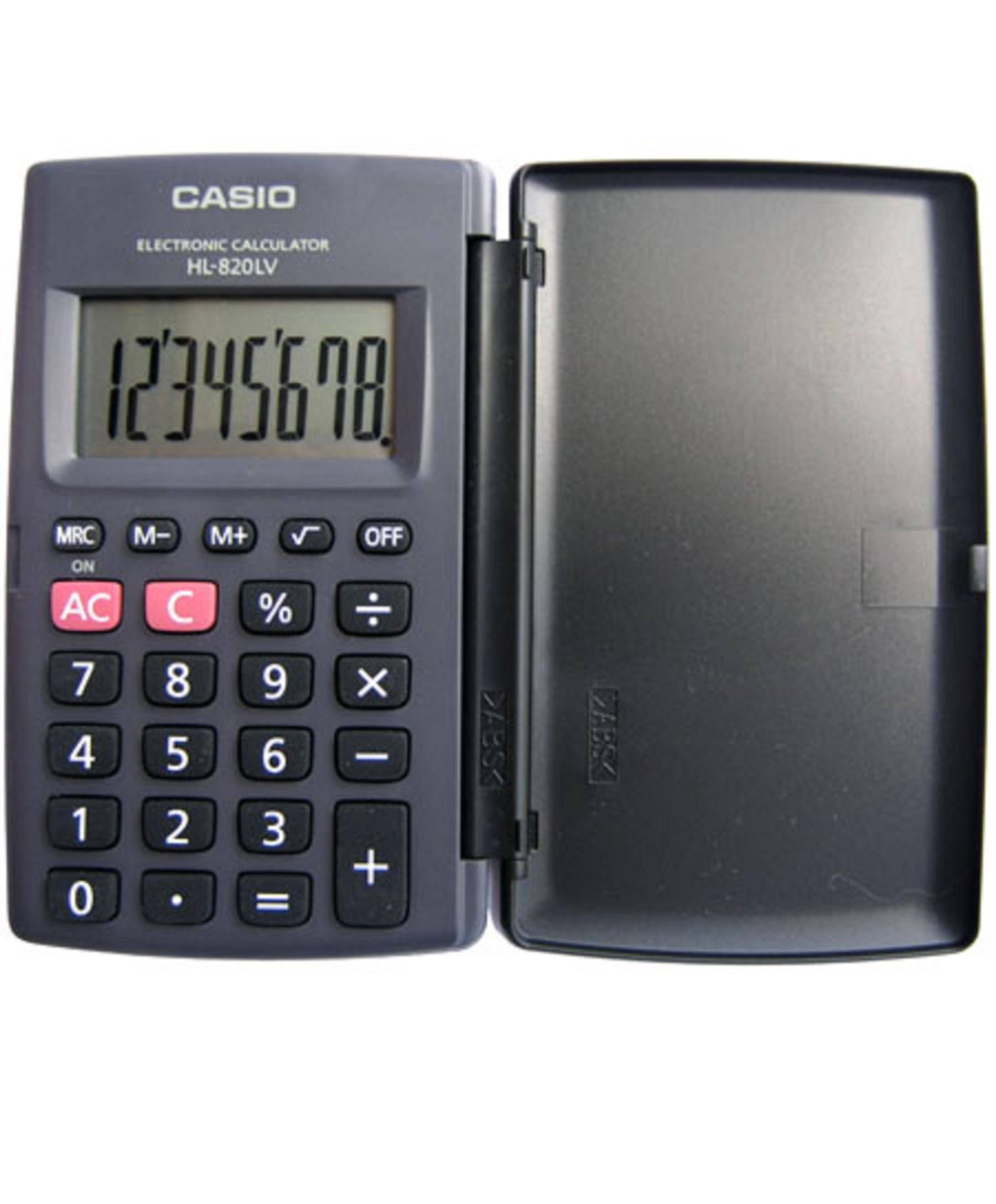 Калькулятор CASIO HL-820LV 8-разрядный карманный с крышкой