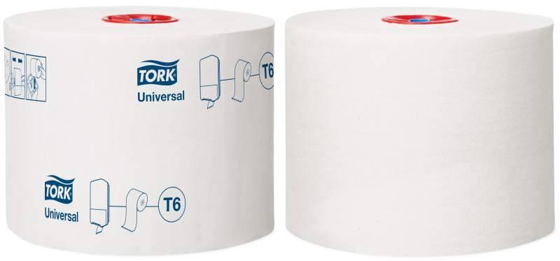 Туалетная бумага, TORK MID-SIZE, 1 слойная, 135 м, белый