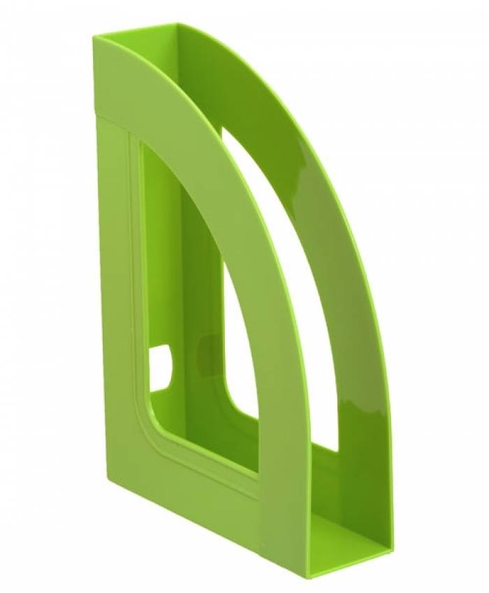 Лоток вертикальный СТАММ РЕСПЕКТ 70 мм, зеленый пластик