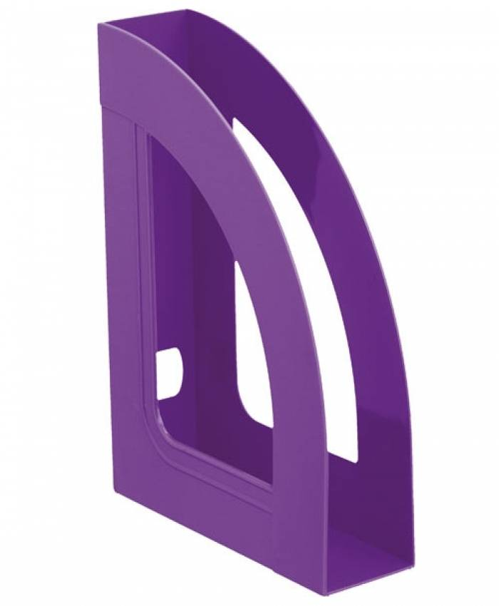 Лоток вертикальный СТАММ РЕСПЕКТ 70 мм, фиолетовый пластик