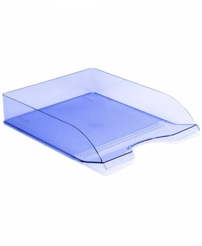 Лоток горизонтальный СТАММ ДЕЛЬТА тонированный голубой пластик